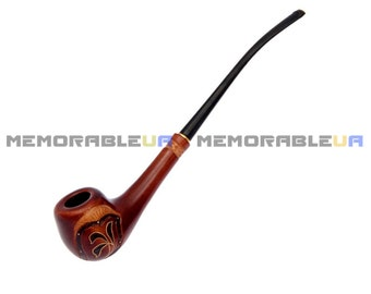 Spring sprouts Lady tobacco pipe smoking pipes gift for woman Pear apricot wooden Tobacco pipe Handmade Carved Unusual gift for woman Mother