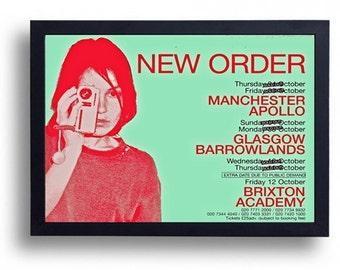 New Order  Framed Gig Poster Print