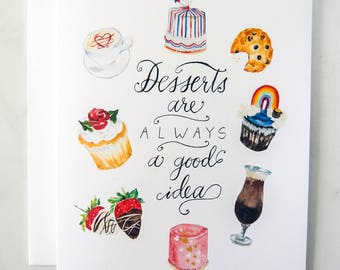 Desserts Art Card, Sweet Tooth, Just Because Cards, For the Love of Baked Goods