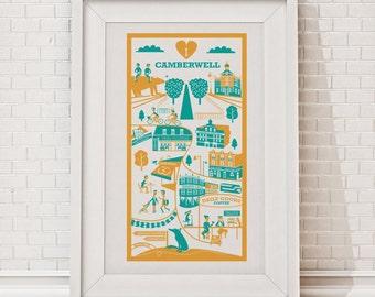 Camberwell Print | London illustration | South London print | Camberwell illustration | Travel print | London art print | London gift