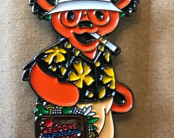 Grateful Dead Hunter S. Thompson Dancing Bear Lapel Pin. Hat Pin. Steal Your Face.  High Quality!