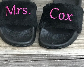 Personalized fur slides
