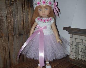 Set for Dianna Effner Little Darling Boneka 10 inches doll - blouse, skirt, hat.