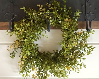 Farmhouse Faux Greenery Wreath | Baby Grass Wreath|Pepper Grass Wreath| Farmhouse Wreath |Small Wreath | Farmhouse Decor