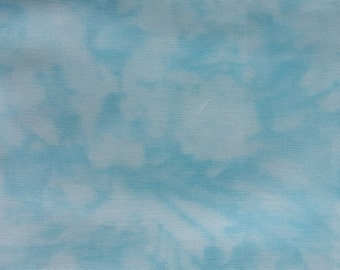 "Blue/White quilting fabric ""Handspray"" by RJR Fabrics. Sold by 1/2 yard"