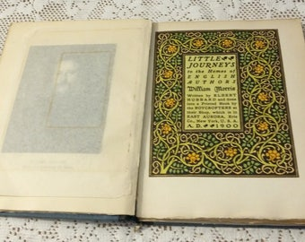 Antique Book Little Journeys to the Home of William Morris by Elbert Hubbard