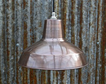 Retro factory styled antiqued copper ceiling light hanging lamp shade pendant light cfssr4