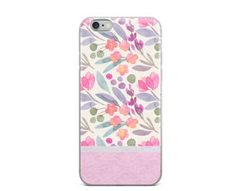 iPhone Case - Floral with Lace Effect - Girly Phone Cases, Gorgeous & Stylish Phone Case - Available for the  iPhone 6/6s Iphone 7 Iphone X