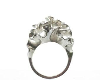 Silver Cnidaria Ring