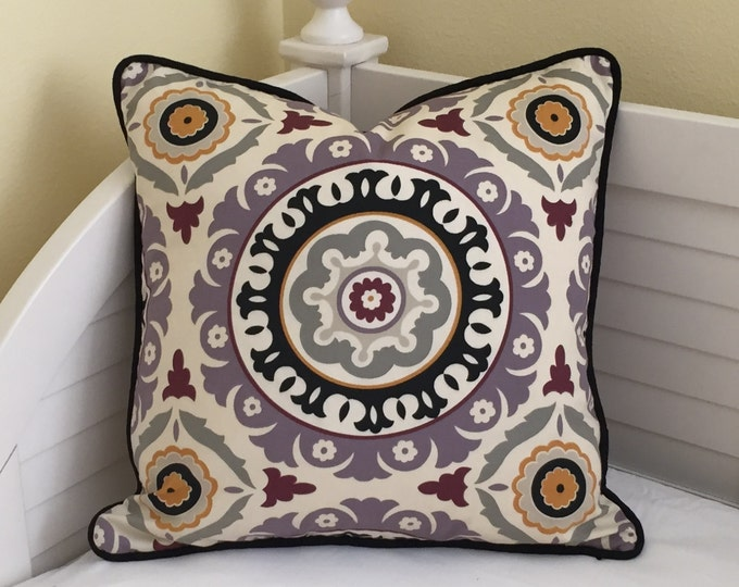 SALE and FREE Shipping, Modern Waverly Solar Flair Designer Pillow Cover 20x20