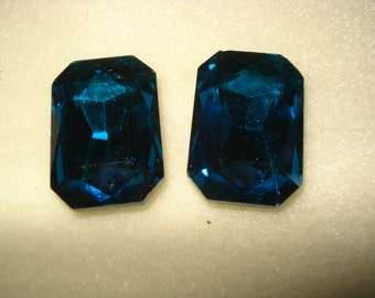 Montana Blue Octagon Cabochon 27x18mm
