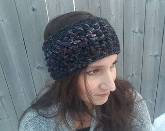 Winter Headband, Ear Warmer, Crochet Headwrap, Crochet Headband, Chunky Crochet Earwarmer, Winter Accessory, Gift for Her