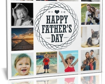 fathers day collage canvas print framed ready to hang