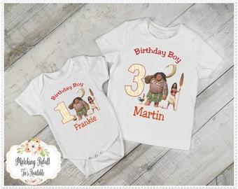 Boys Moana Birthday Tee; Moana 1st Birthday, Boys Moana 2nd Birthday; Moana Birthday bodysuit; Boys 3rd Moana Birthday; FREE Personalization