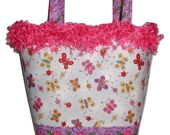 Butterfly Diaper Bag, Purple Butterflies Tote Bag, Purple Diaper Bag, Purple Butterfly Diaper Bag, Purple Butterfly Purse, Purple Butterfly