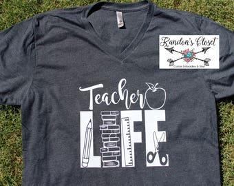 TeacherLIFE. V-NECK SHIRT
