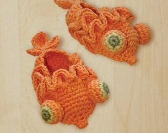 Goldfish Baby Booties Crochet PATTERN, SYMBOL DIAGRAM (pdf)