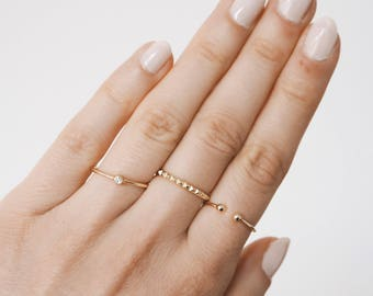 Simple Stacking Ring, Gold Ring, Silver Ring,  simple ring, minimal ring, band ring, minimalist jewellery
