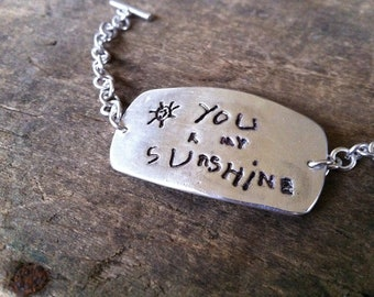 Child's Drawing or Writing Jewelry, Kids Drawing or Actual Artwork Handwriting Bracelet, Memorial Jewelry Actual Handwriting Artwork Jewelry