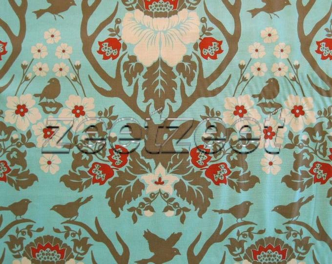 DEER ANTLER Damask CELADON Jade Green Rare - Cotton Quilt Fabric by the Yard, Half Yard or Fat Quarter Joel Dewberry Free Spirit Deer Valley