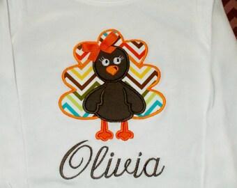 Girl Thanksgiving Shirt, Girl Toddler Thanksgiving Shirt, Girl Turkey Bodysuit, Girl Thanksgiving Bodysuit, Girl Fall Shirt