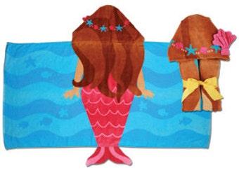 Personalized Hooded Towel Mermaid