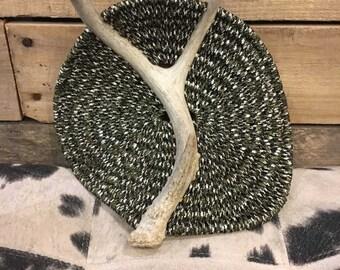"""Handmade Antler Basket - """"Stone"""""""