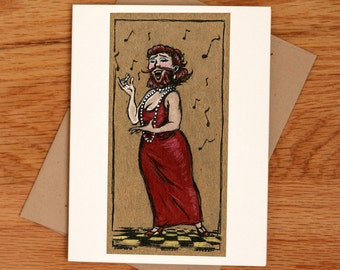 The Bearded Lady, individual card.