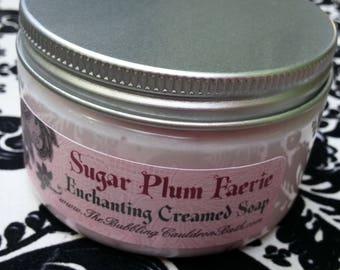 Creamed Soap - Sugar Plum Faerie - Enchanting Creamed Soap - Bath Whip - Whipped Soap