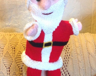 KNITTING tutorial/pattern: puppet Santa Claus