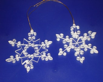 Quilled Snowflake Ornament Set for Christmas, Favors, Packaging