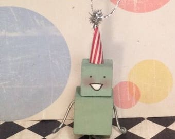 Robot ornament robot party vintage retro inspired birthday robot
