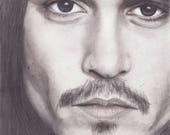 Johnny Depp Portrait - b&...