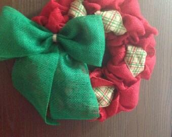 Christmas Plaid Wreath