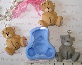 Teddy bear for your jewelry or any other silicone mold