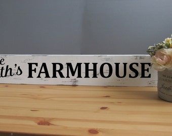 CUSTOM Farmhouse Sign, Fixer Upper Sign, Personalized Rustic Sign, farmhouse decor, Custom sign, Shabby Chic Sign, Farm House, Wood Sign