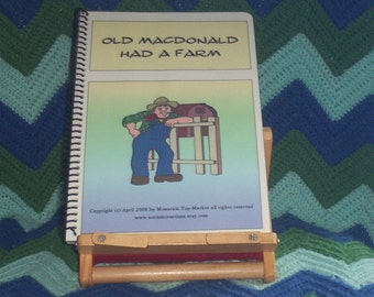 Old MacDonald Had A Farm PECS Autism Book And Song Board