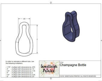 Champagne Bottle, bubbly without bow, wine bottle