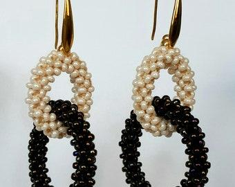 Handmade beaded earring