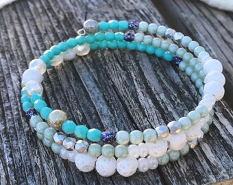 Triple Wrapped Aromatherapy ~ Essential Oil ~ Diffuser Bracelet