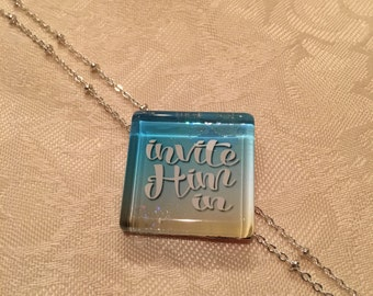 Not Just Words Necklace 'Invite Him In'