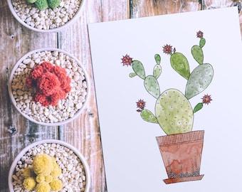 Cactus Nursery Wall Art - Instant Download - Printable Art - Gender Neutral - Nursery Decor - Printable Nursery Art - DIY Print - Baby Art