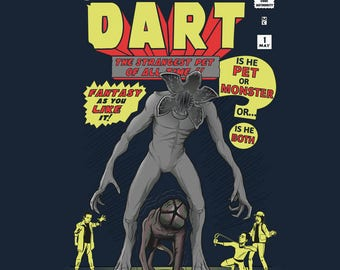The Incredible Dart T-shirt / Stranger Things Tee / Eleven& Demogorgon /  Incredible hulk mash up /Free Shipping worldwide