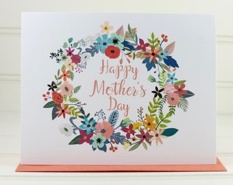 Mother's Day Card, Mothers Day Card, Mother, Mom, Grandmother, Sister, Daughter, Wife, Stepmother, Girlfriend, Mother-in-Law, Aunt, Floral