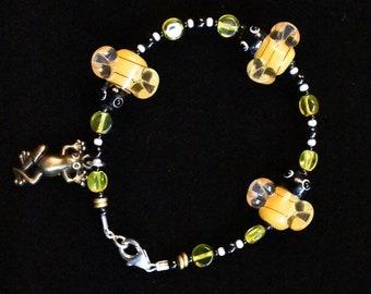 Beaded Honey Bee Bracelet