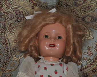Shirley Temple Doll!! 1930's vintage Composition!!! ST 13