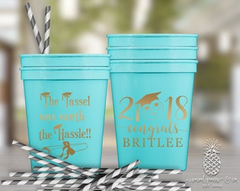 Class of 2018 Graduation Party Favor Cups | social graces and Co