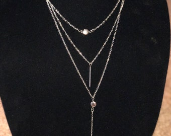 Popular Silver layering Necklace
