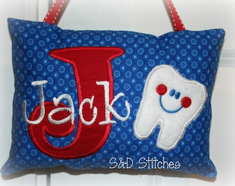 Tooth Fairy Pillow for Boys - Personalized - Christmas Gift - Birthday Gift - Baby Gift - Ring Bearer Gift