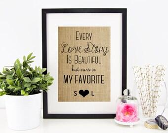 Rustic Wedding Decor | Burlap Print | Shabby Chic Wedding Decoration | Personalized Burlap Wedding Decor | Reception Decor
